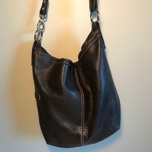 Roots Leather Two-way Bag - hobo/crossbody